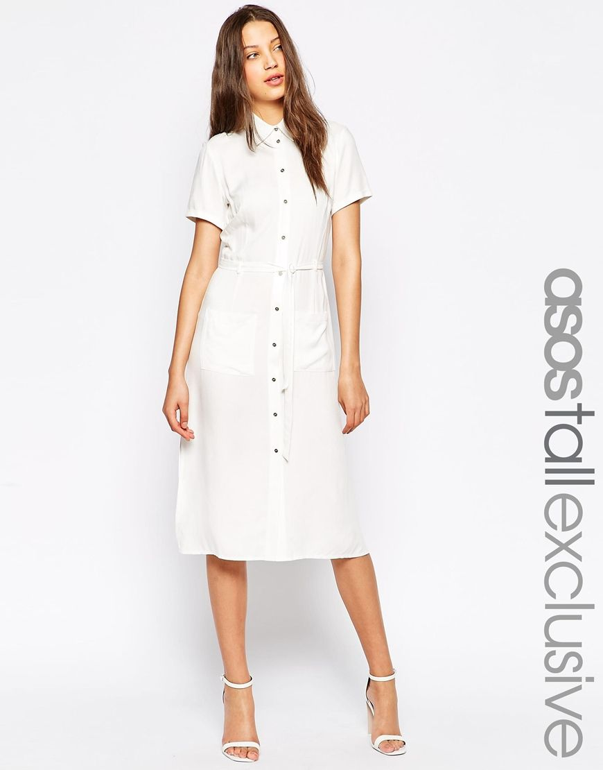 Asos Tall Exclusive Shirt Dress With Side Splits At Asos Com Clothing For Tall Women Clothes Shirt Dress [ 1110 x 870 Pixel ]