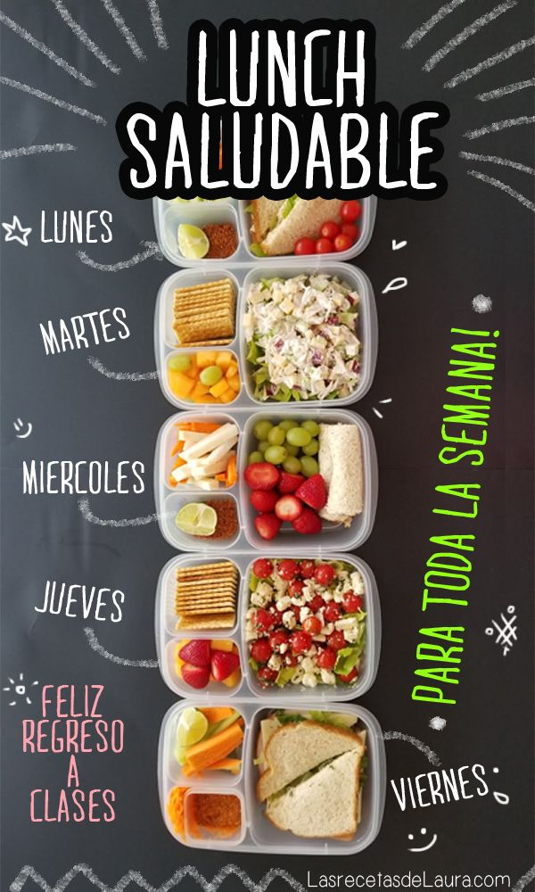 lunch para los cinco d as de la semana recipe in 2018 lunch pinterest lunches food and. Black Bedroom Furniture Sets. Home Design Ideas