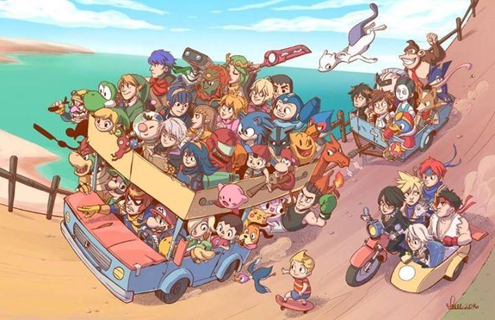 Road Trip Smash Bros Funny Super Smash Ultimate Smash Bros