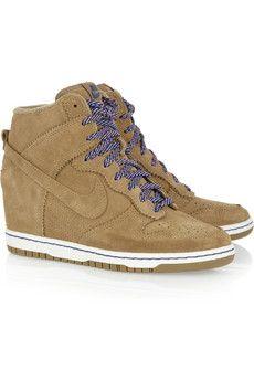 d441faf4cb90 Nike Dunk Sky Hi suede wedge sneakers