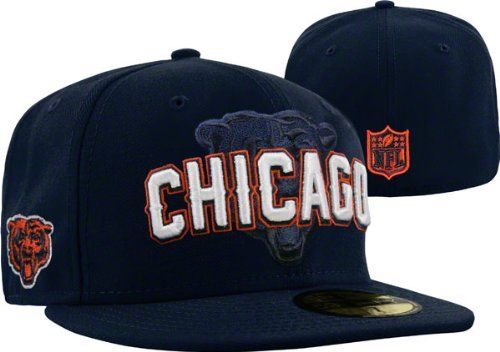 Chicago Bears New Era 5950 Players Fitted Size 7 3 8 Hat Cap Nfl Authentic New By New Era 22 99 Chicago Bears New Era 5950 Chicago Bears Hats Team Colors