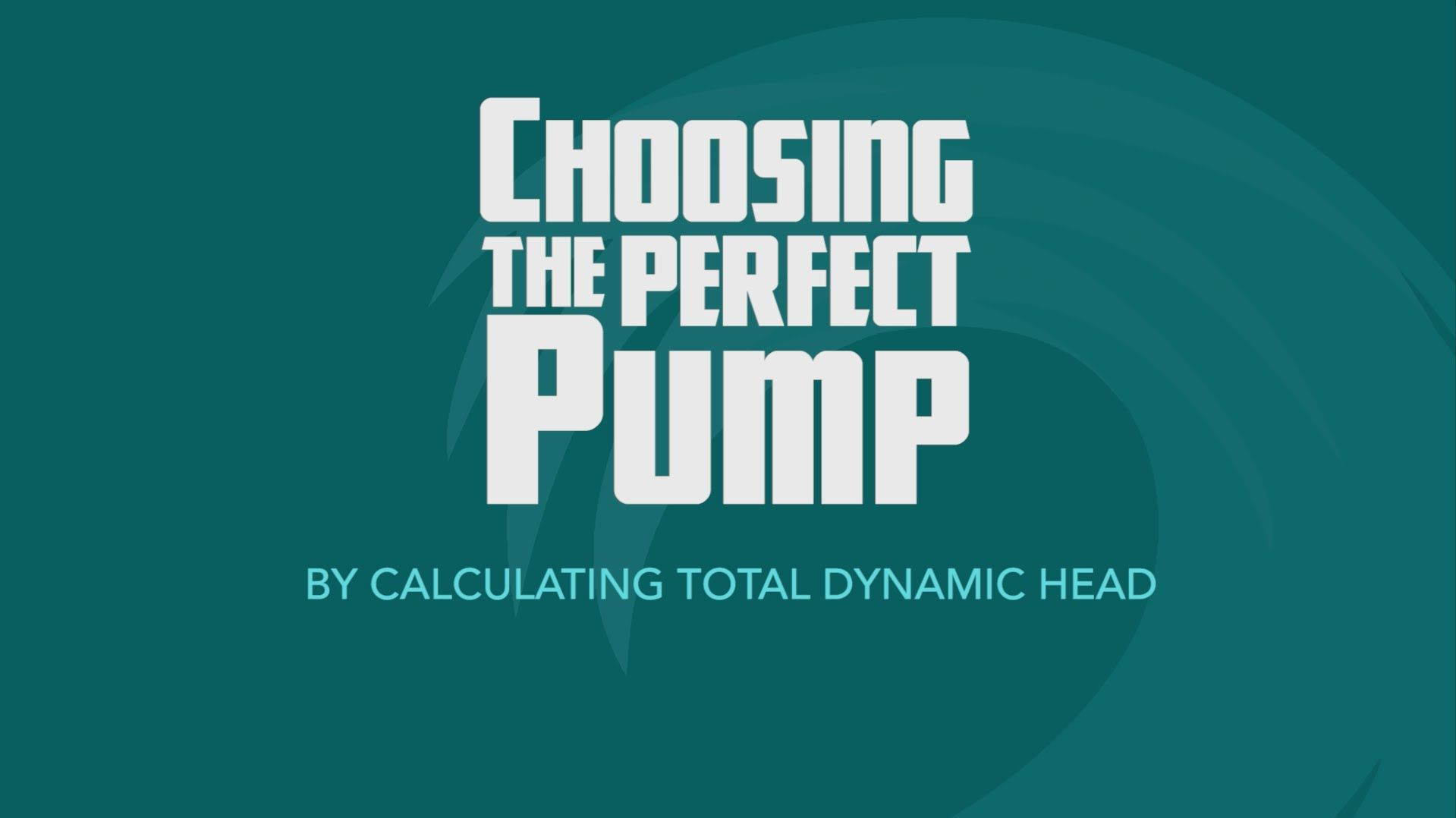 How To Calculate Total Dynamic Head
