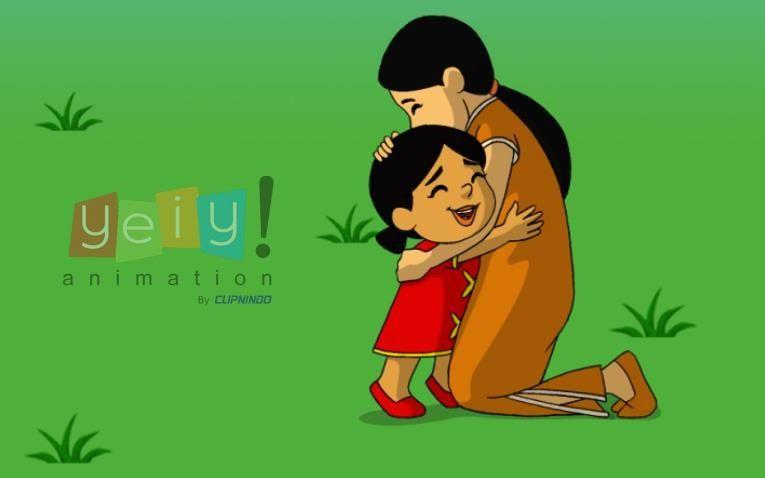 Fang Fang Meluk Ibunya Animasi
