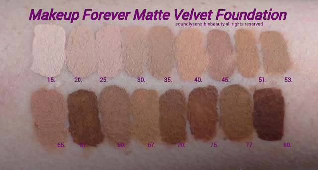 Makeup Forever Mat Velvet Foundation; Review & Swatches of