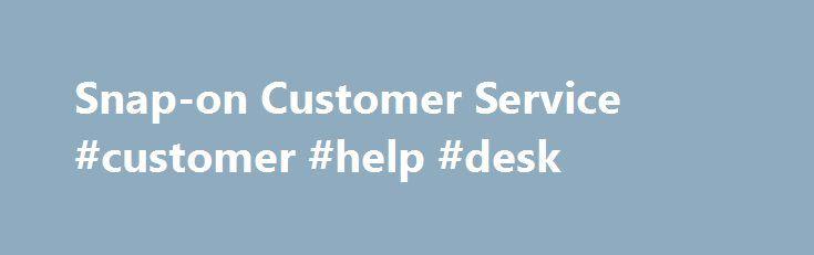 snap on customer service