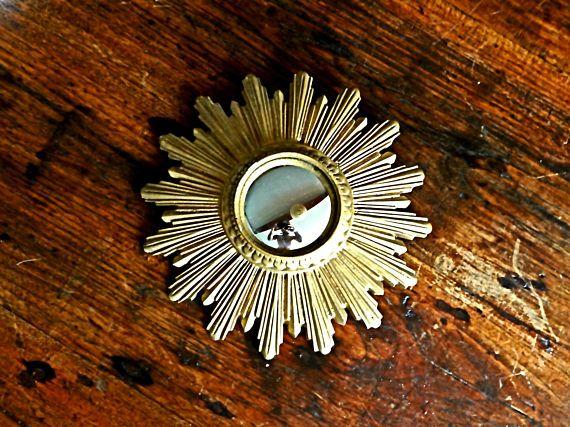 Vintage Spiegel Goud : Sunburst mirror midcentury starbust vintage convex antique mirror