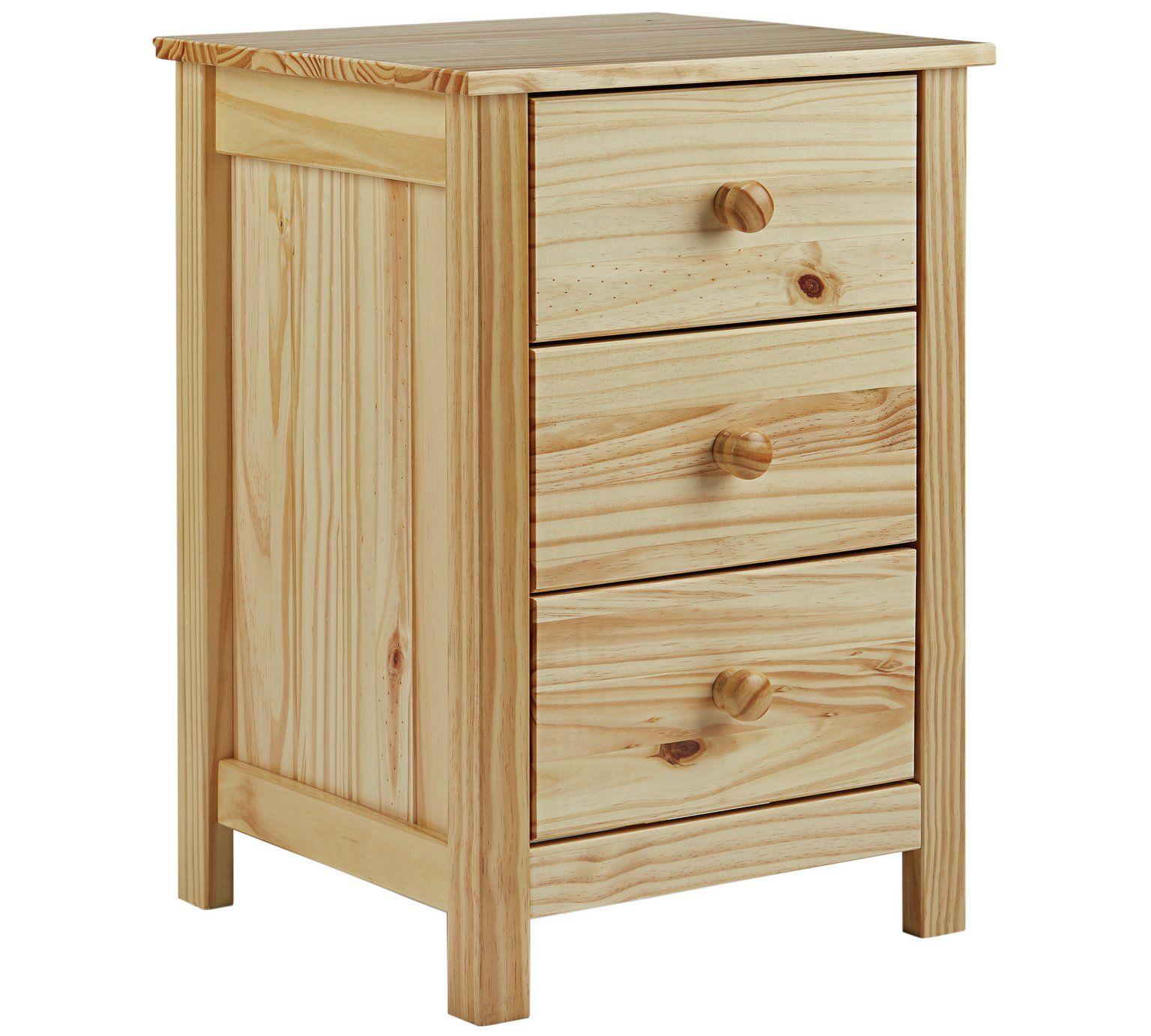 Buy Argos Home Scandinavia 3 Drawer Bedside Table Pine