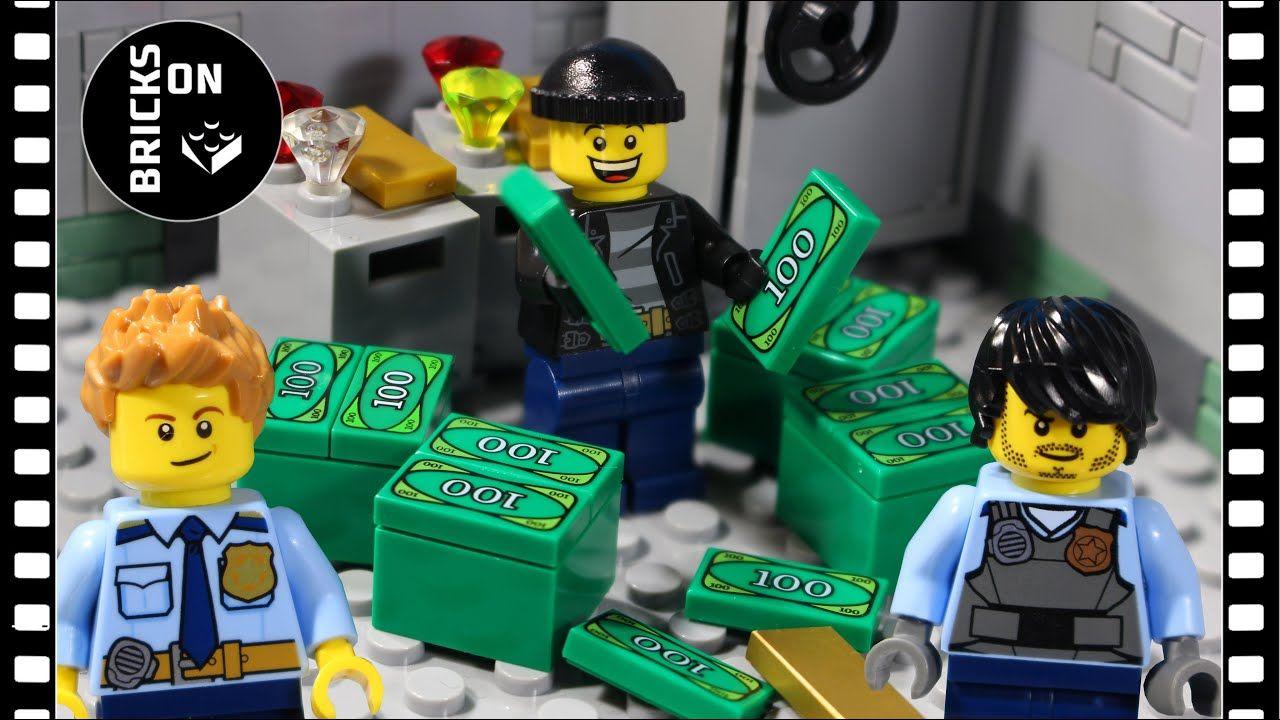 Lego Bank Robbery 2 Heist Bomb Fail Lego City Police Steamroller