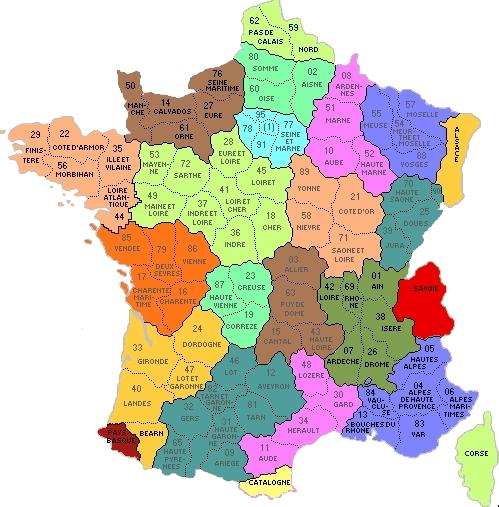 Dipartimenti Francia Cartina.Francia Cartina Politica Dipartimenti Cerca Con Google