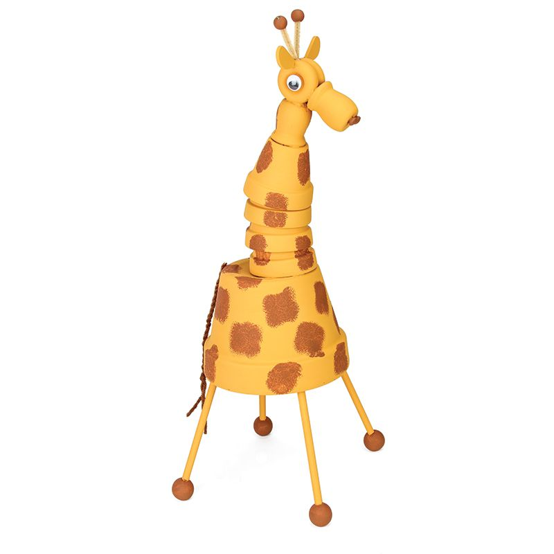 Nicole™ Crafts Clay Pot Giraffe  #claypot #craft