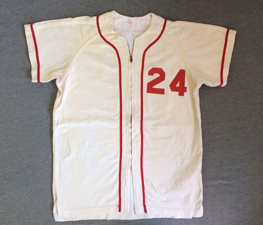 8cc43544c91f7 Vintage 60's Baseball Jersey GAME WORN MCLANE Nylon Durene Conmatic ...