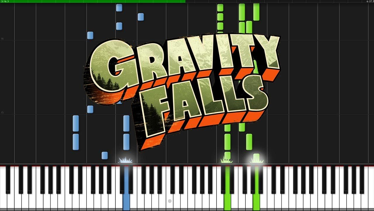 Gravity Falls Theme Piano Tutorial Synthesia Musicien