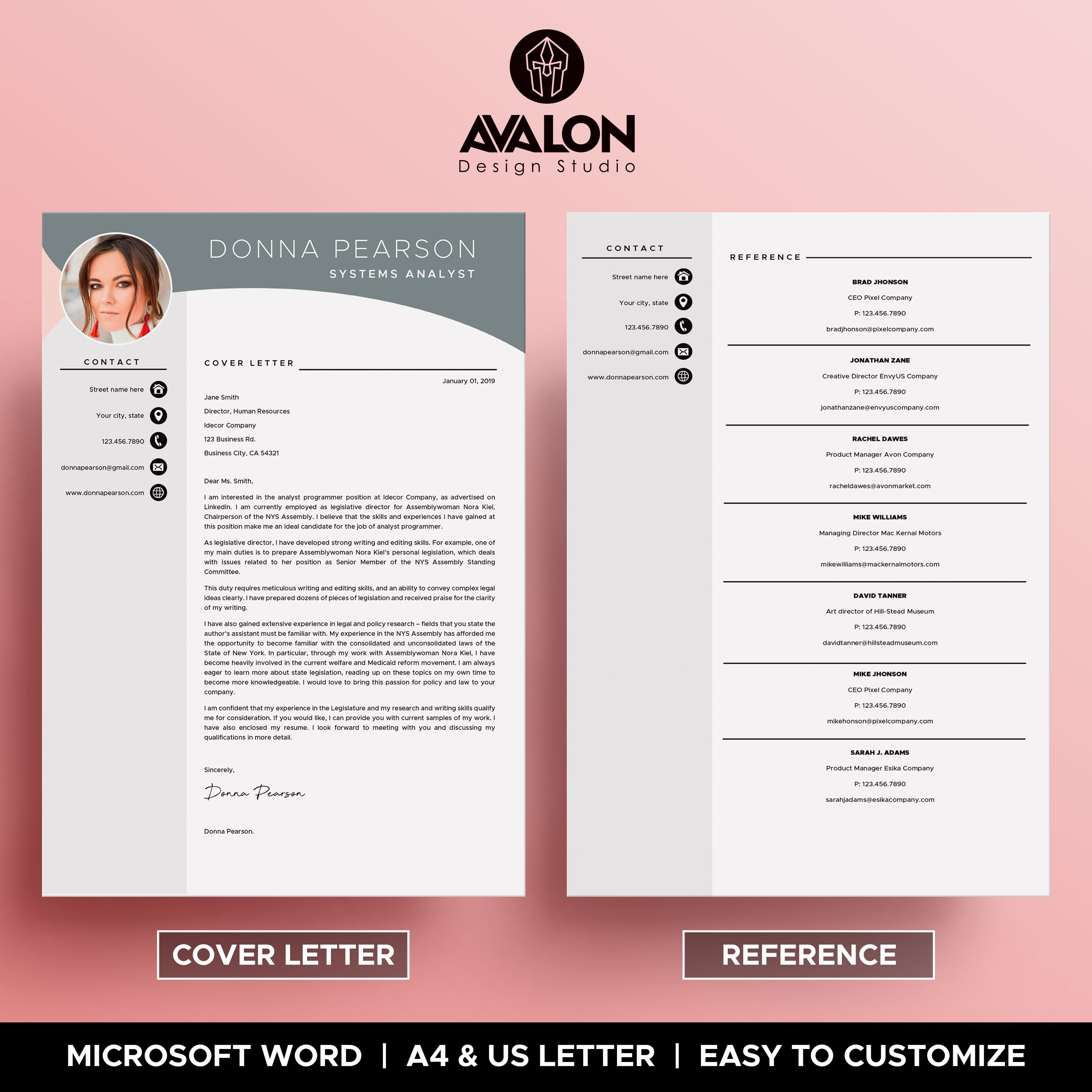 Professional Resume Template For Microsoft Word 4 Pages Modern Cv Template Instant Downlo Resume Template Resume Template Professional Modern Cv Template
