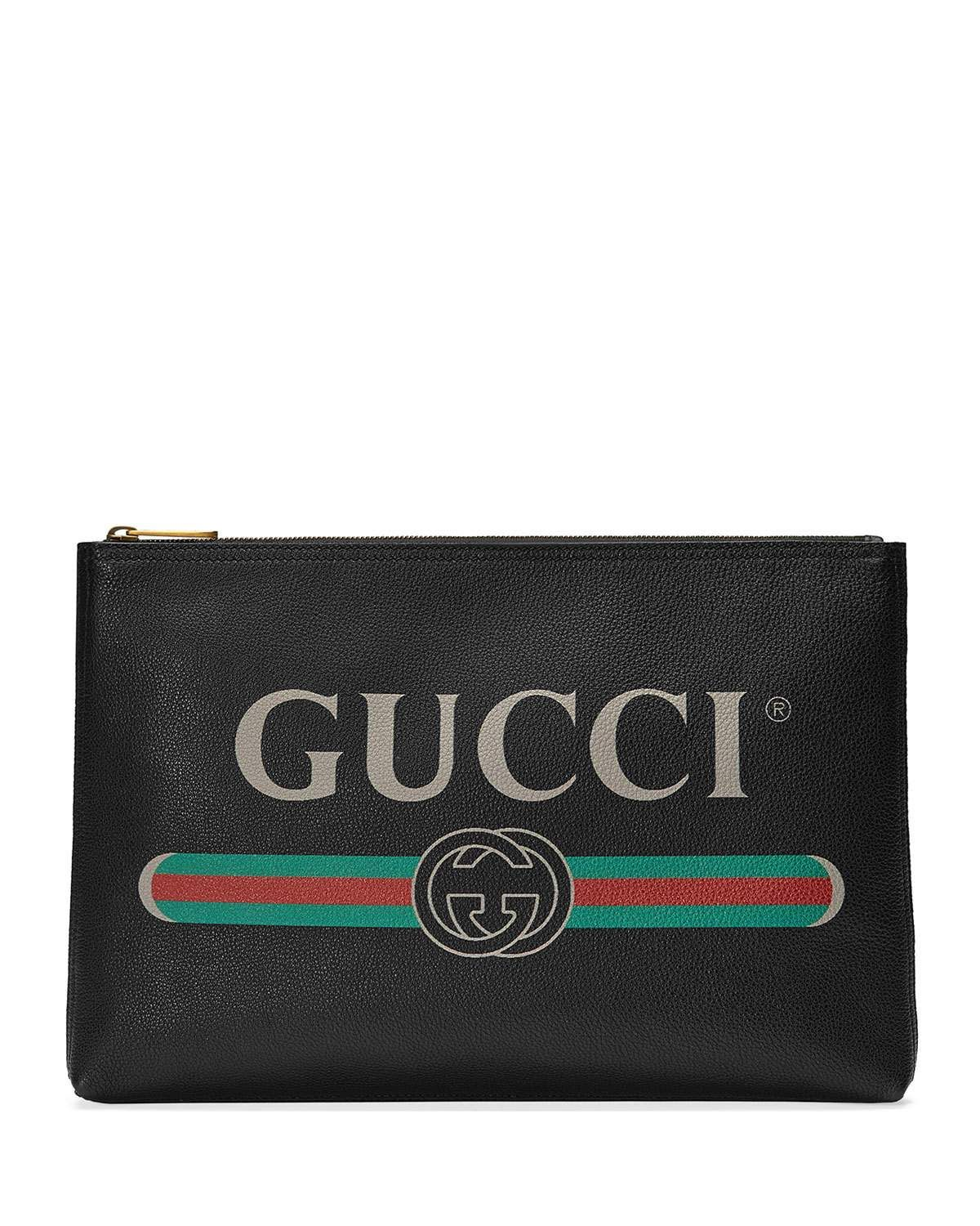 b94a9945463 Gucci Men's Large Logo Pouch Bag in 2019 | Life + Style | Gucci ...