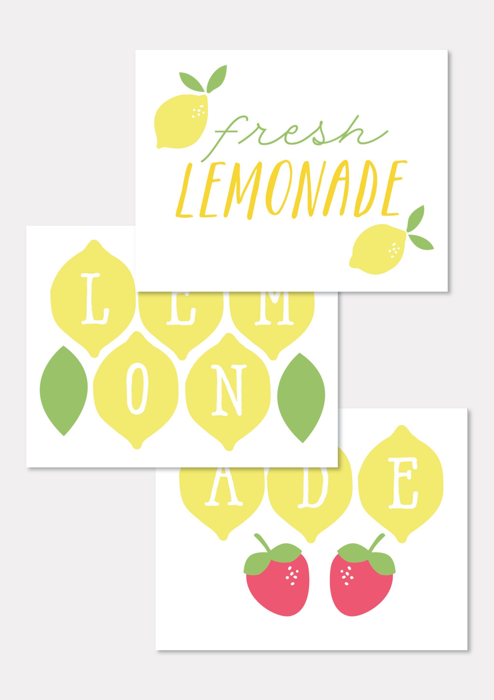 Free Printables to Make Your Lemonade Stand Extra Sweet ... Lemonade Sign Kids