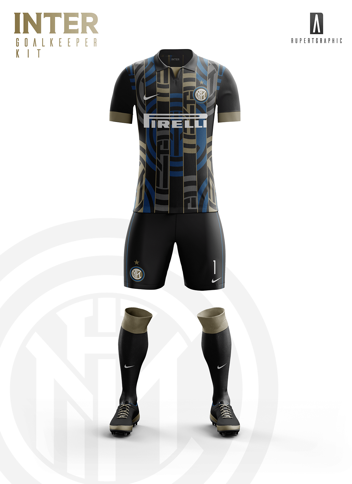 0801ce3137 FC Internazionale Goalkeeper Kit 2016-17