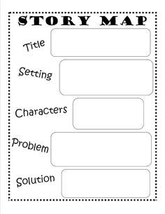 1st Grade Printable Reading Worksheets Story Map First Grade