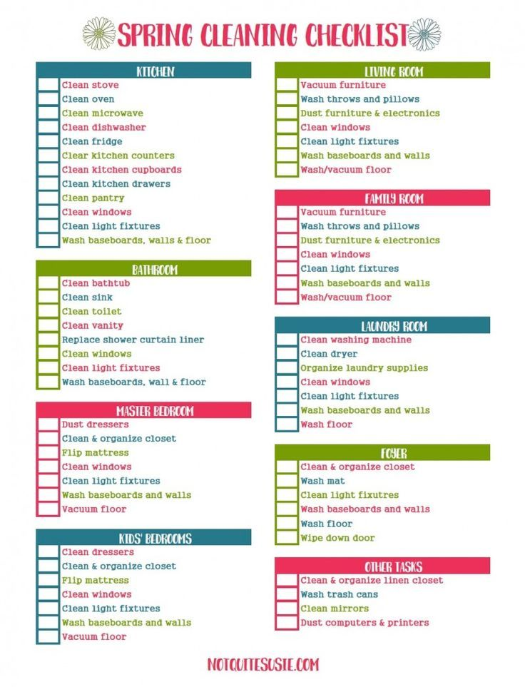 free printable spring cleaning checklist homemaking spring