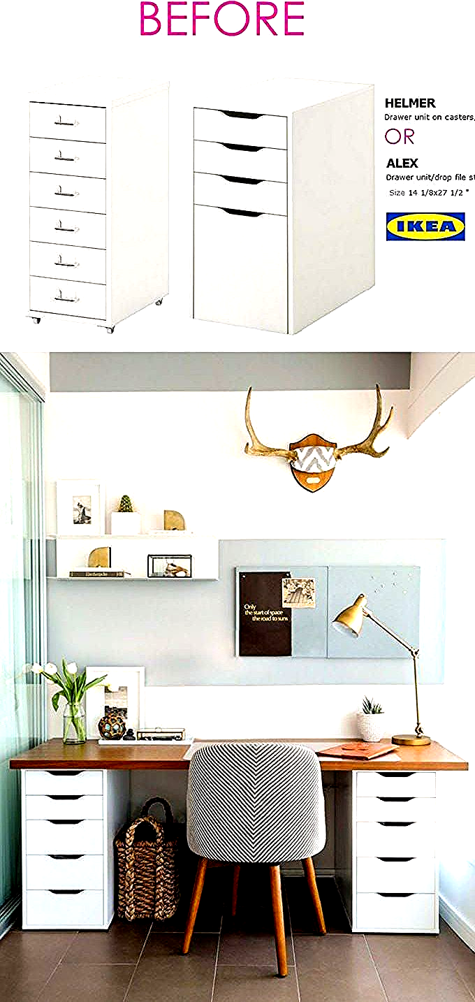 20+ Smart and Gorgeous IKEA Hacks: save time and money with functional designs and beautiful transformations. Great ideas for every room such as IKEA hack bed, desk, dressers, kitchen islands, and more! - A Piece of Rainbow 20+ Smart and Gorgeous IKEA Hacks: | kitchen dresser ideas ikea hacks #ikea #ikeahack #desk #livingroom #diy #furniture #woodworkingprojects #woodworkingplans #apieceofrainbow #diy #homedecor #hacks #bedroomideas #farmhouse #farmhousedecor #organizing #organization #organize