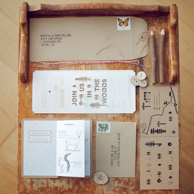 Project Love: Wood & Grain Invitations