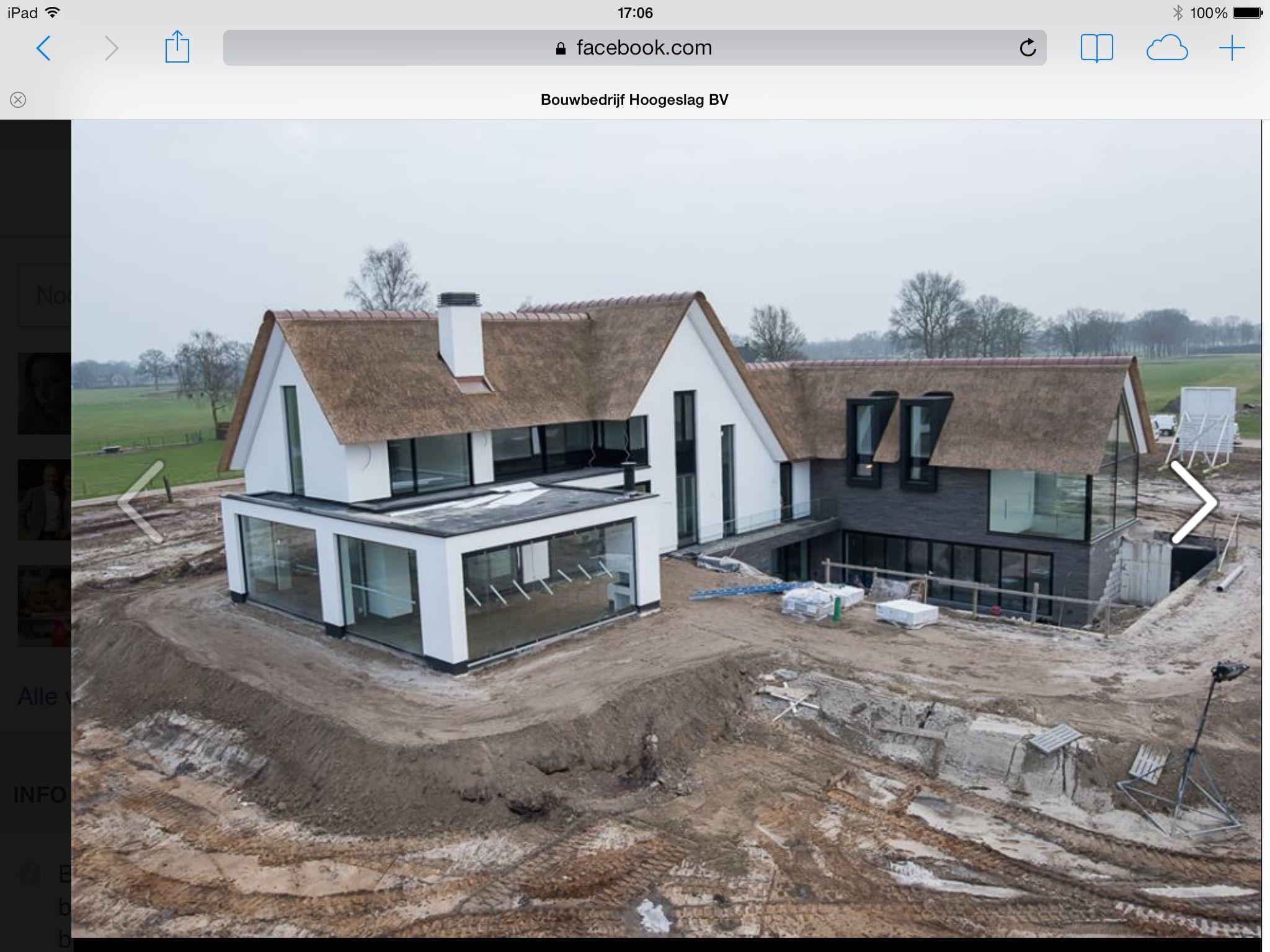 Landelijk modern huis pinterest modern huizen en architectuur - Buitenkant terras design ...