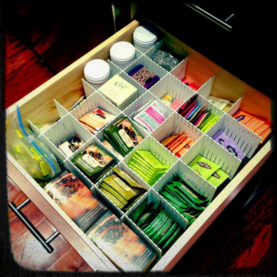 My organized tea drawer! Finally! I used some iders I got from the Containeru2026  sc 1 st  Pinterest & My organized tea drawer! Finally! I used some iders I got from ...