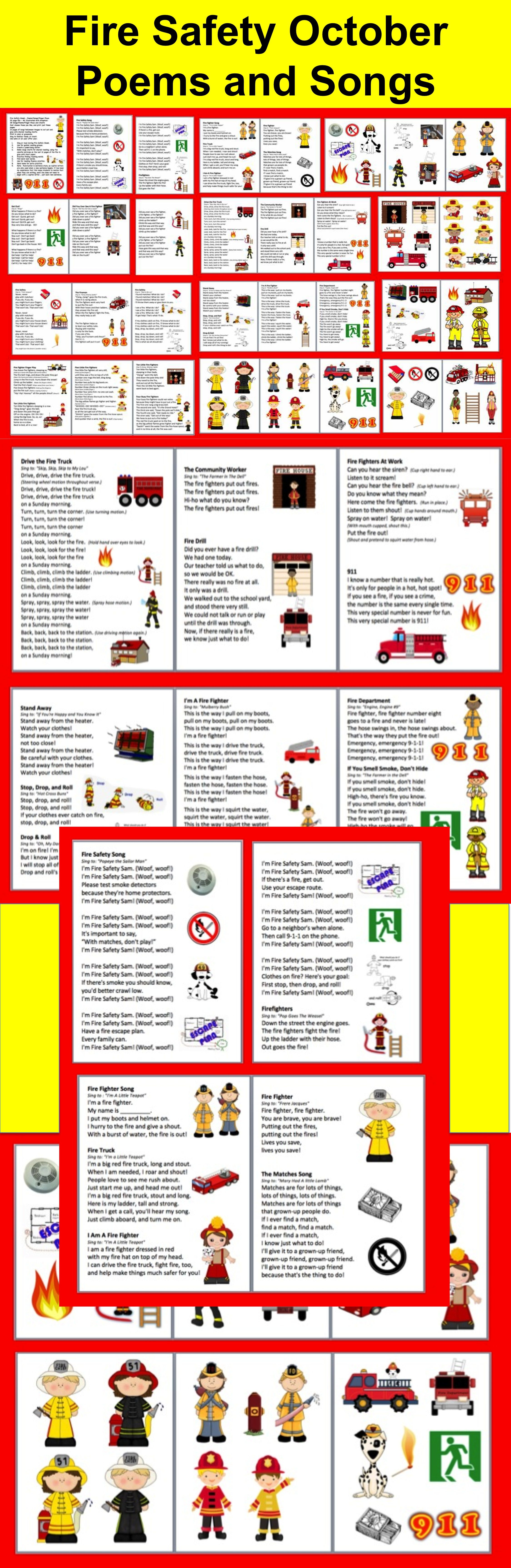 Fire Safety Poems Songs And Chants