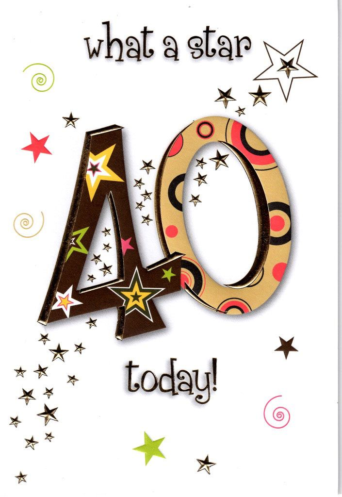 Funny 40th Birthday Card H Cards Online