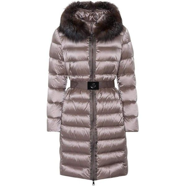 10ef12b94 low cost moncler fur trimmed puffer coat yeast 1fa2d be627