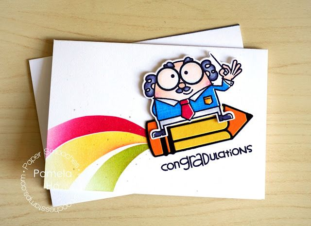 congradulations card by pamela ho for paper smooches pencil dies