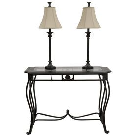 Beautiful Style Selections 30 In Classical Bronze Sofa Table Set With Two Buffet Lamps