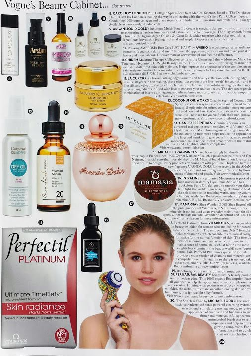 As seen in Vogue's Beauty Cabinet: Candid Essentials' Vitamin C Serum featured as advanced anti-ageing serum #organic #vegan #skincare #beauty…  -  Candid Essentials - Google+