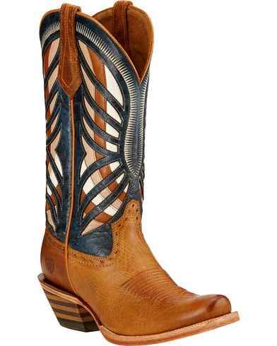 ebfdad4614e Ariat Gentry Performance Riding Cowgirl Boots - Square Toe ...