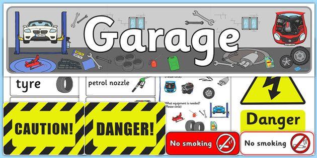 Mechanics/Garage Role Play Pack - Mechanics/Garage Role Play Pack, Role Play Pack - role play, Display signs, display, labels, packgarage,  mechanic, car, MOT, car parts, hydraulic lift, petrol, oil, role play, display, poster