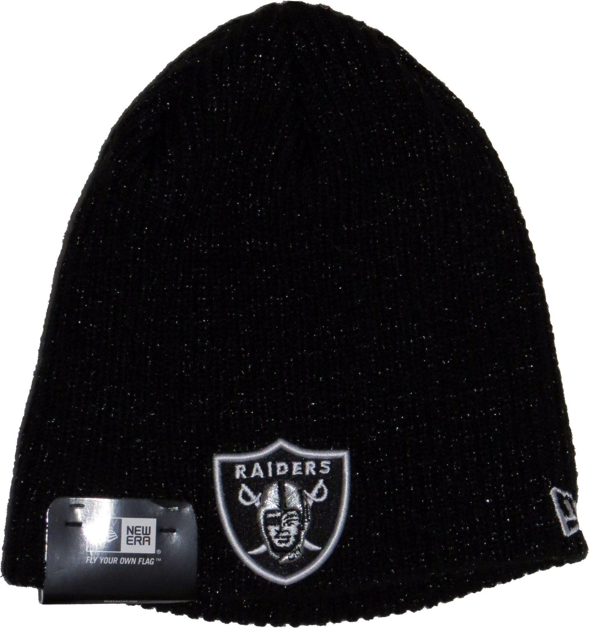 1c8c76fe Oakland Raiders New Era NFL Toned Black Beanie | Christmas Time ...