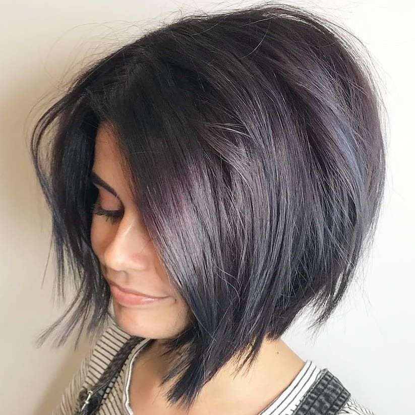 Simple Short Straight Bob Haircut Women Short Hairstyle For Thick Hair Thick Hair Styles Medium Bob Hairstyles Short Bob Hairstyles