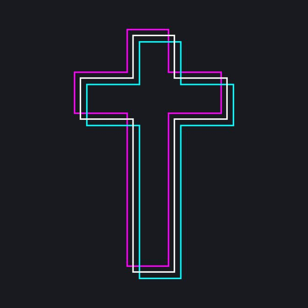 Christian Cross Vaporwave