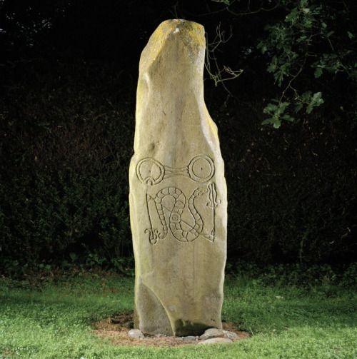 Historical Artefact, Newton Stone - an ancient pillar stone, found in...