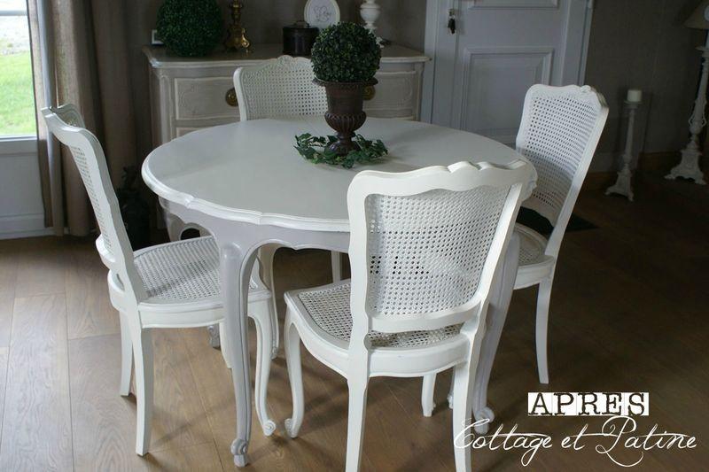 Relooking Salle à manger Louis 15 Chaises salle à manger
