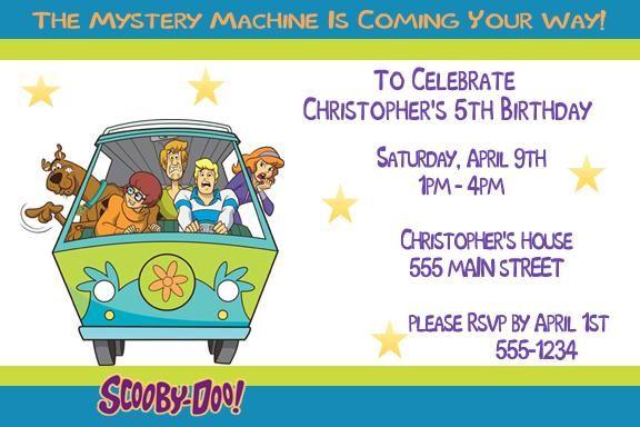 scooby doo birthday party invitation