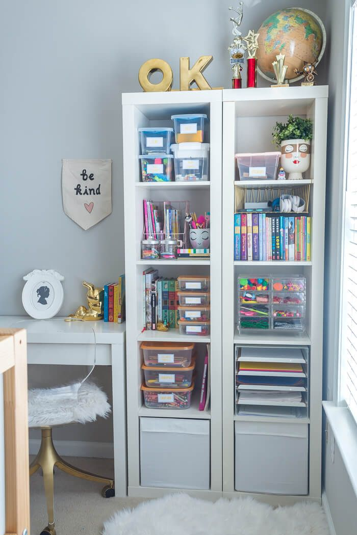 Organizing Kids Craft Supplies - $100 Room Challenge images