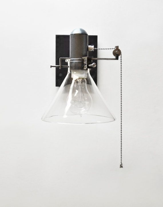 Wall Sconce With Pull Chain Switch Interesting Wall Sconce Pull Chain Fixture  Beautiful And Bare With Clean Lines Design Ideas