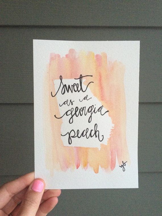 Sweet as a Georgia Peach 5x7 b by ginisis on Etsy