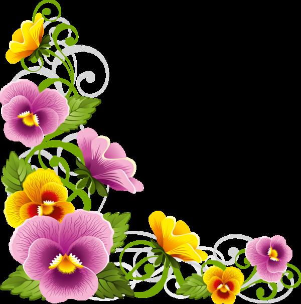 edges corners tubes corners floral pinterest corner clip rh pinterest co uk pansy flower free clipart pansy pictures clip art