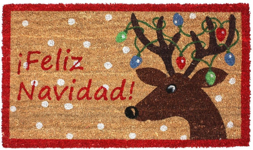 Christmas Rug Doormat Indoor Outdoor Home Kitchen Hall Area Holiday
