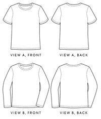 Digital men's metro t-shirt sewing pattern | Sewing patterns and ...