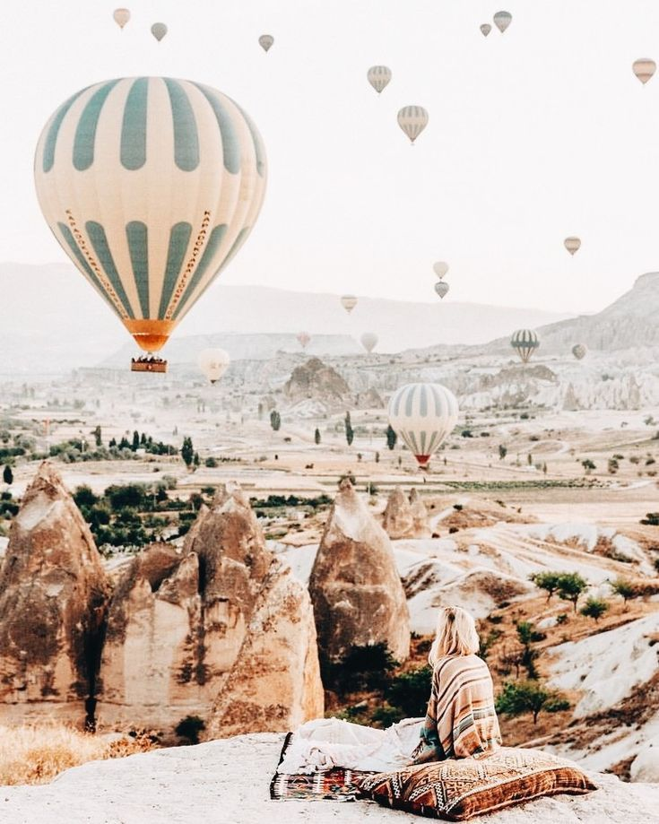 Hot air balloon festival in Cappadocia, Turkey. Wanderlust