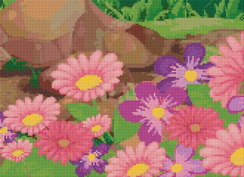 Cross stitch flowers xstitch chart design also  ann logan designs rh pinterest
