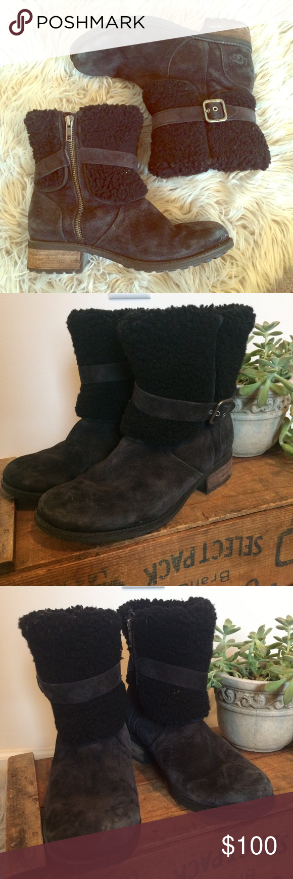 a28a924ffea Ugg Blayre II Fold Over Cuff Suede Boots These gently worn boots are ...