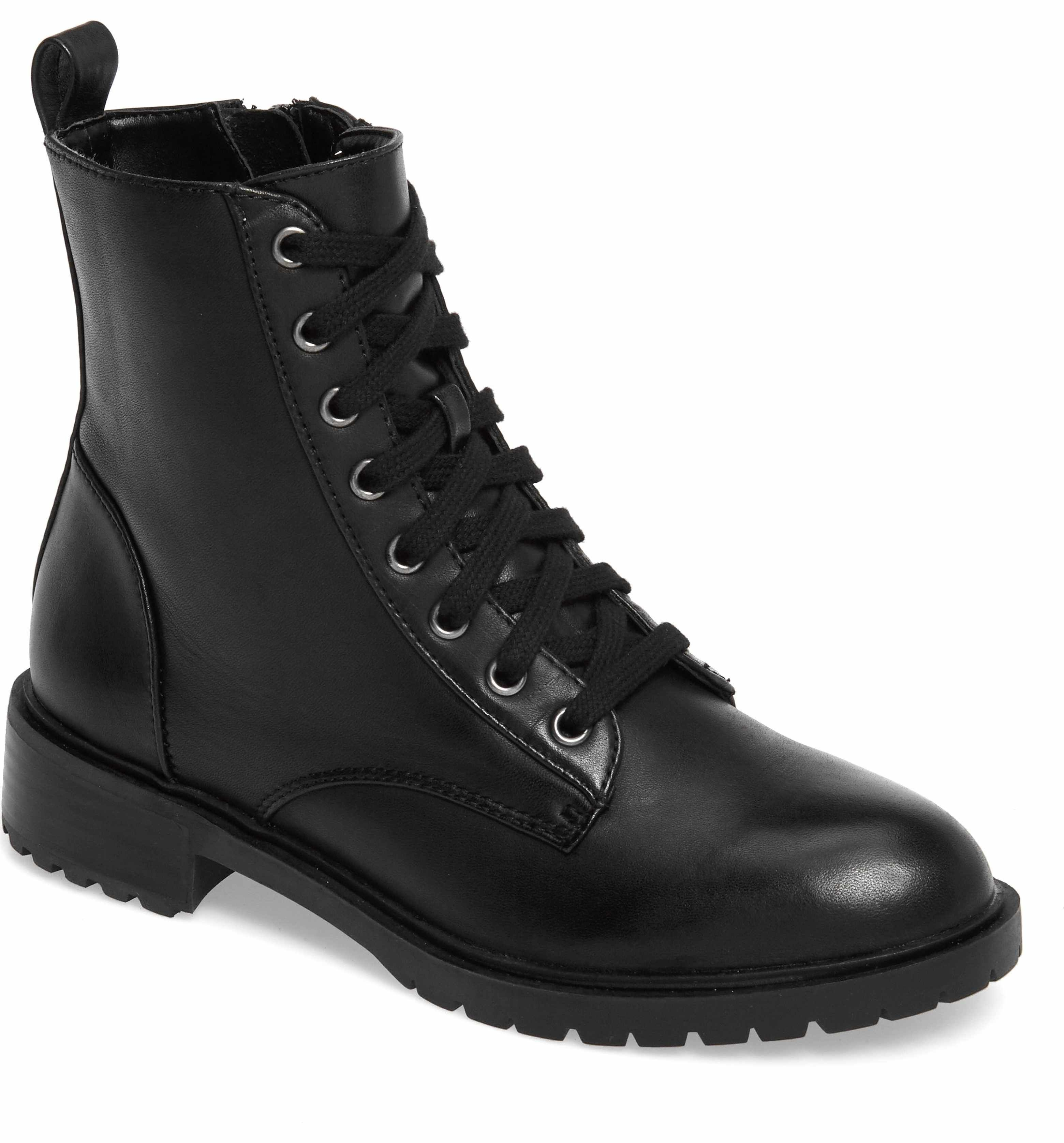 1a853a13fd8 Main Image - Steve Madden Officer Combat Boot (Women)